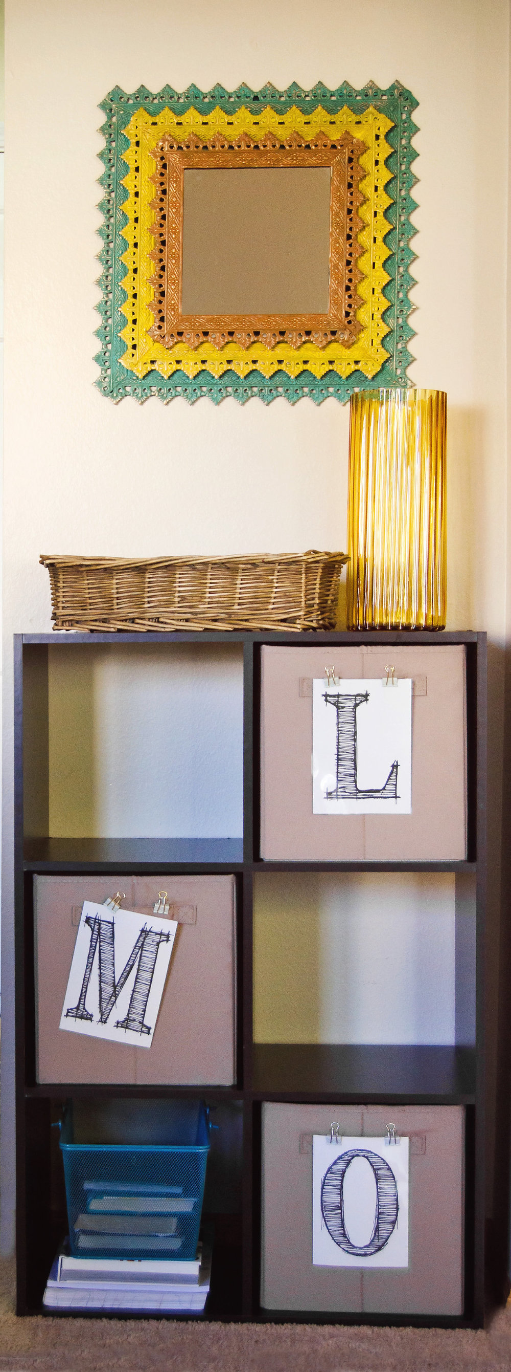 Organization cubby with initials. | hprallandco.com