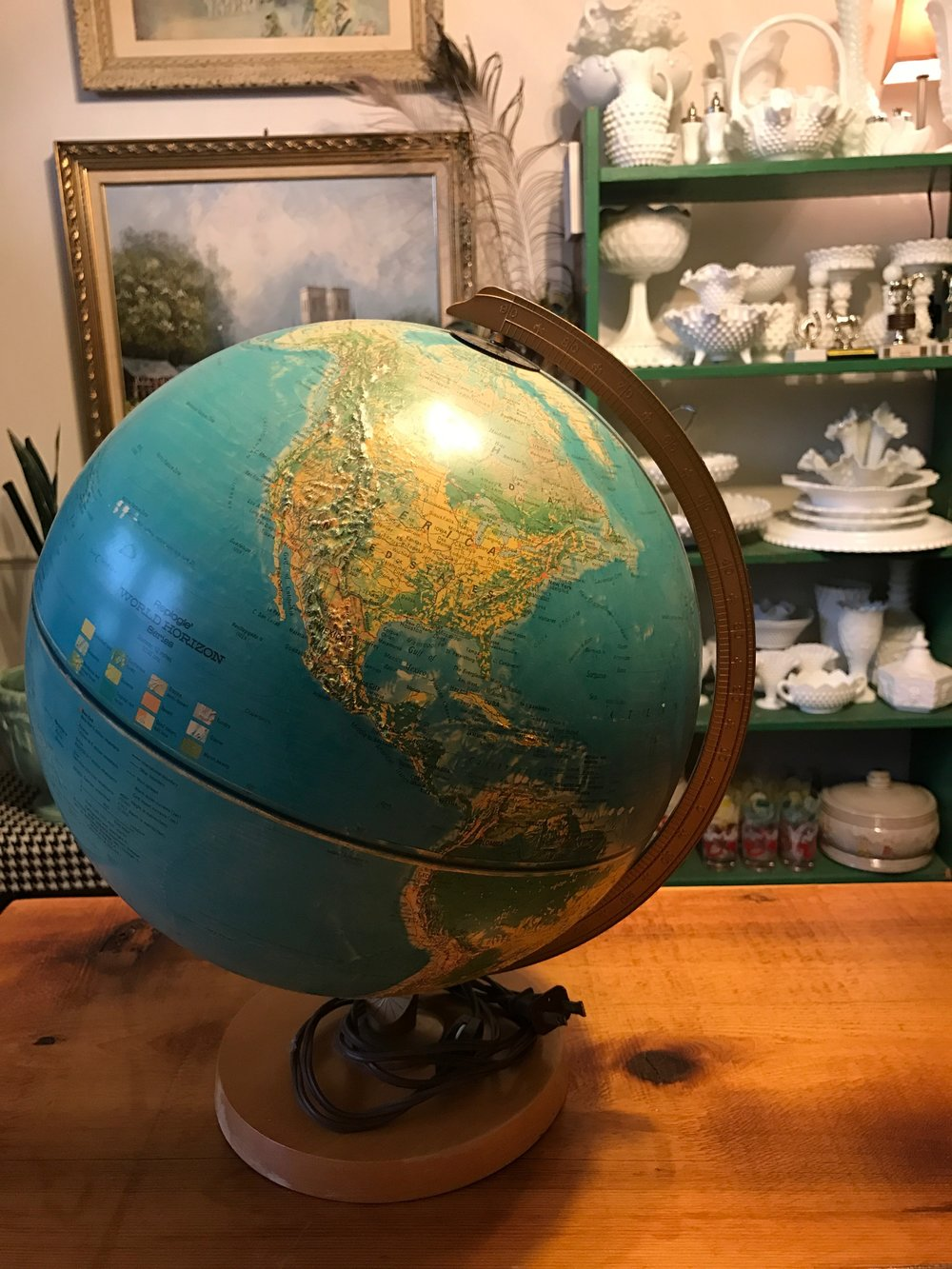 Estate Sale Globe/Globe Lamp.
