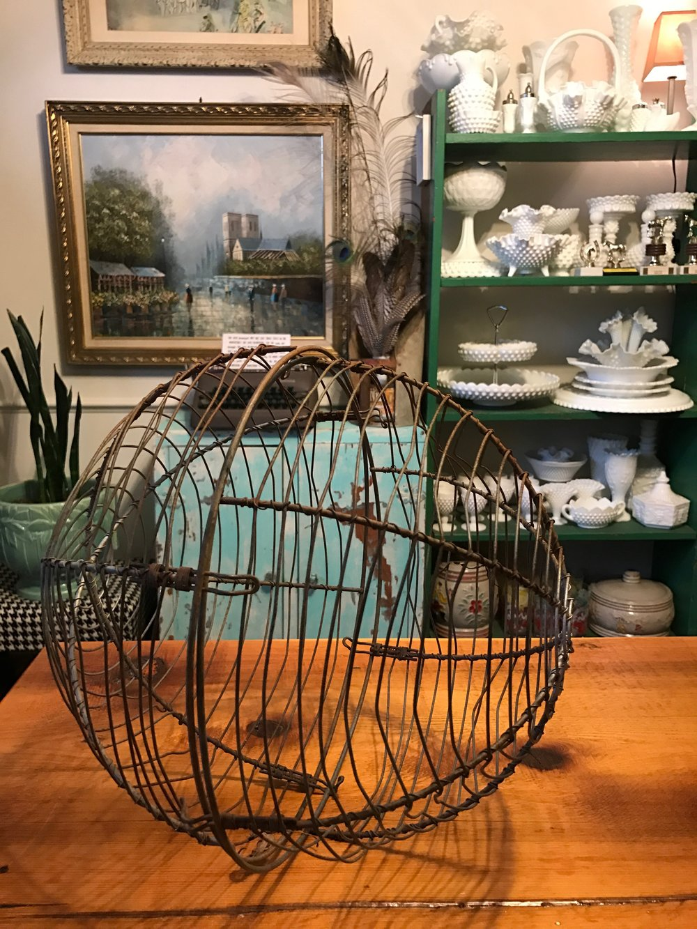 Handmade Antique Metal Orb for Home Decor.