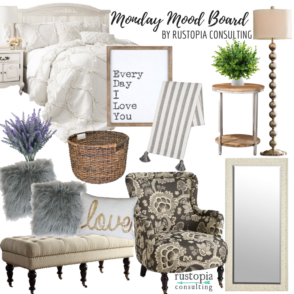 Monday Mood Board featuring neutral pieces in different textures. | RustopiaConsulting.com