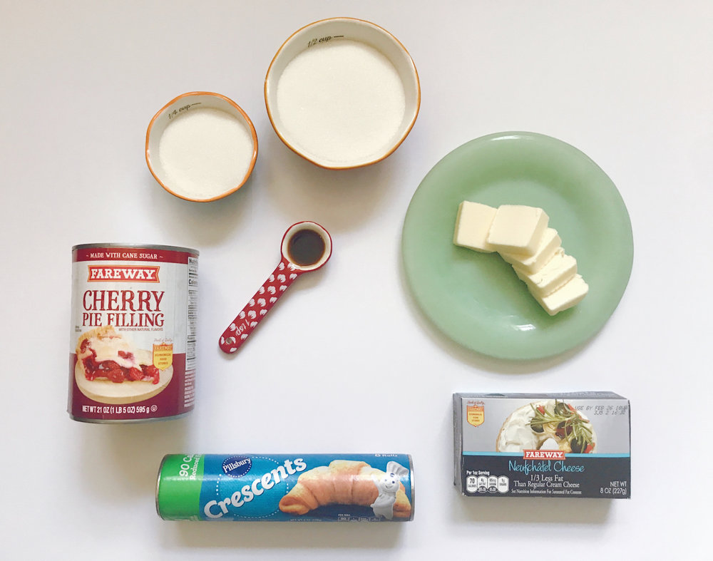 Ingredients for Cherry Cheesecake Bars | HPrallandco.com