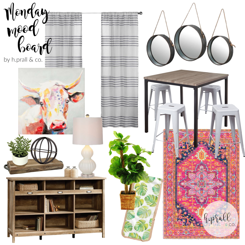 Monday Mood Board for an eclectic dining room by HPrallandCo.com