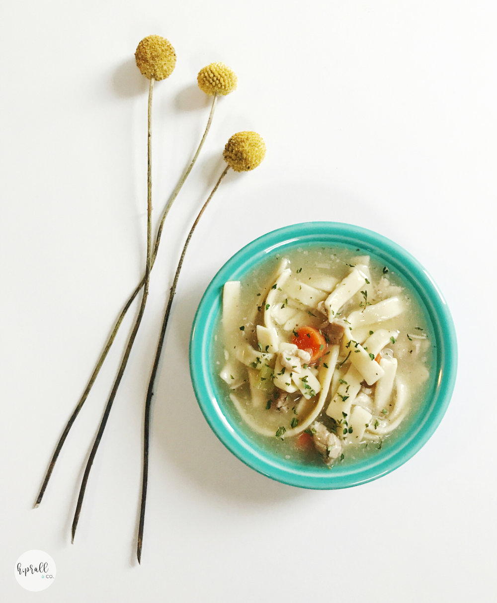Chicken Noodle Soup Recipe via H.Prall & Co.
