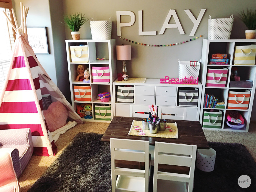 Play room design for girls by H.Prall & Co. | hprallandco.com
