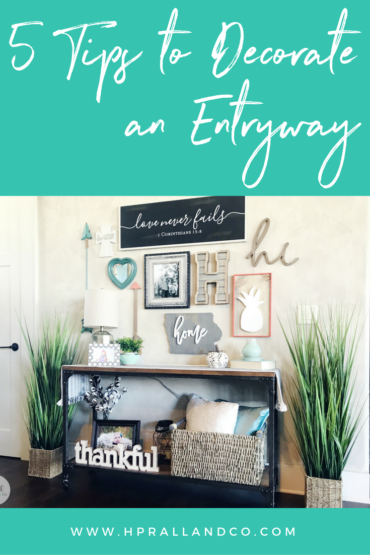 5 Tips to Decorate an Entryway from H.Prall & Co.