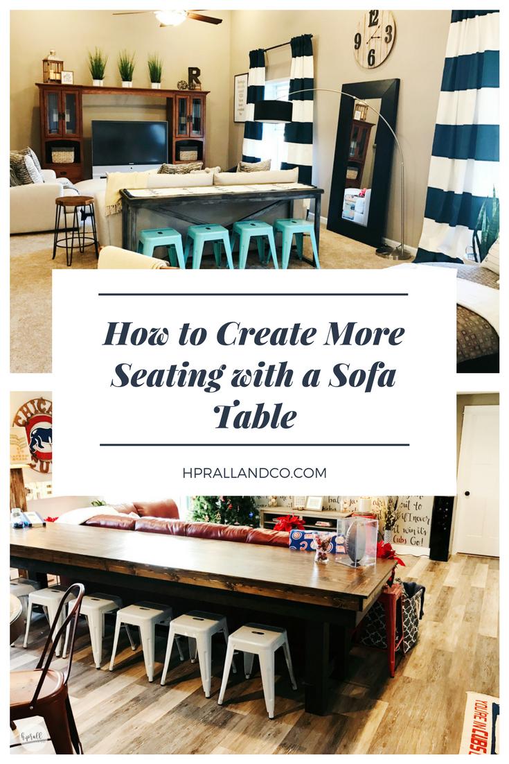 How to Create More Seating with a Sofa Table via H.Prall & Co. | hprallandco.com