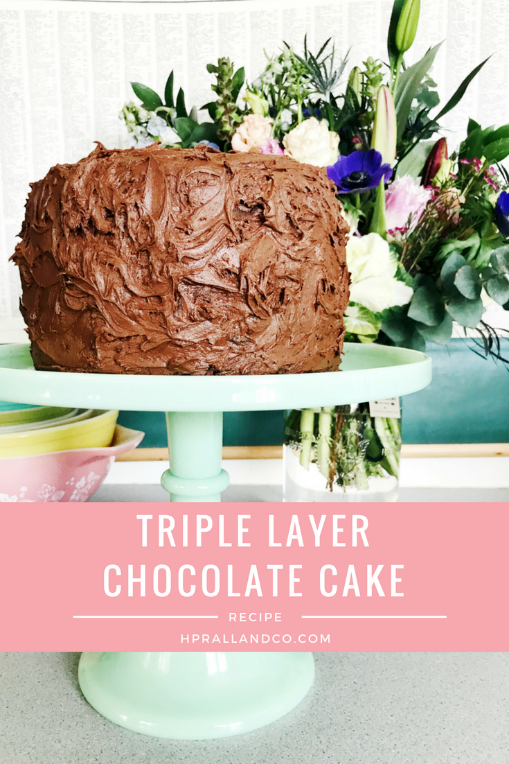 Triple Layer Chocolate Cake Recipe from H.Prall & Co. | Interior Decorating Blog hprallandco.com