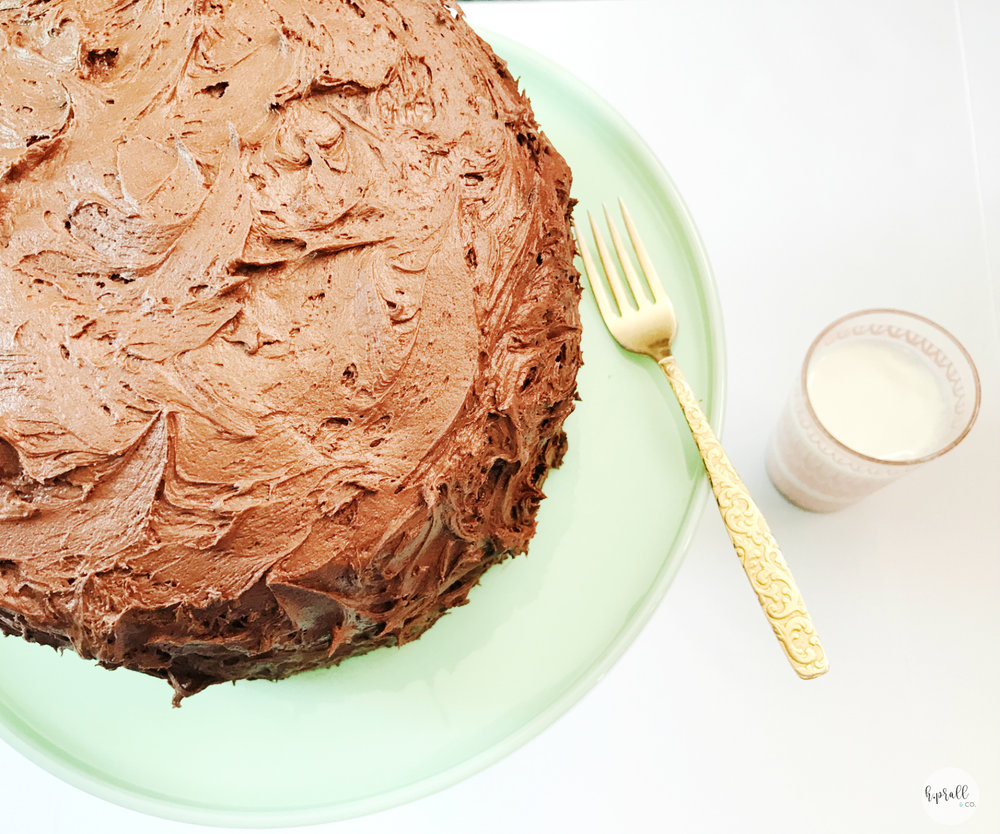 Triple Layer Chocolate Cake Recipe from H.Prall & Co. | Interior Decorating in Des Moines, IA | hprallandco.com