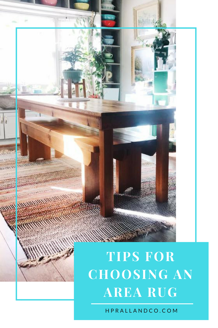 Tips for Choosing an Area Rug from H.Prall & Co. Interior Decorating | hprallandco.com