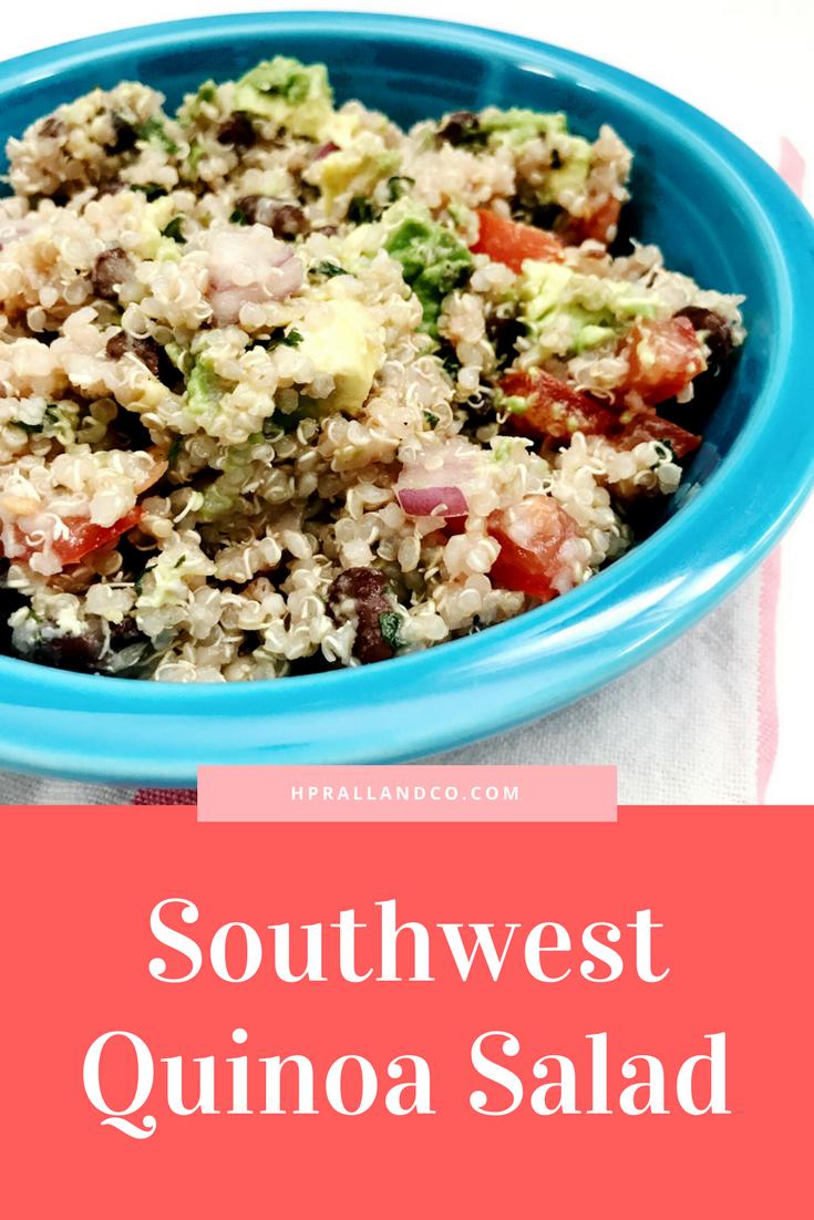 Southwest Quinoa Salad Recipe at HPrallandCo.com | H.Prall & Co. Interior Decorating | Des Moines, IA