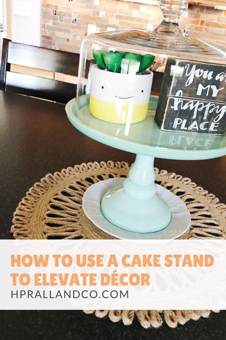 How to Use a Cake Stand to Elevate Decor from H.Prall & Co. Interior Decorating, Des Moines, IA | hprallandco.com