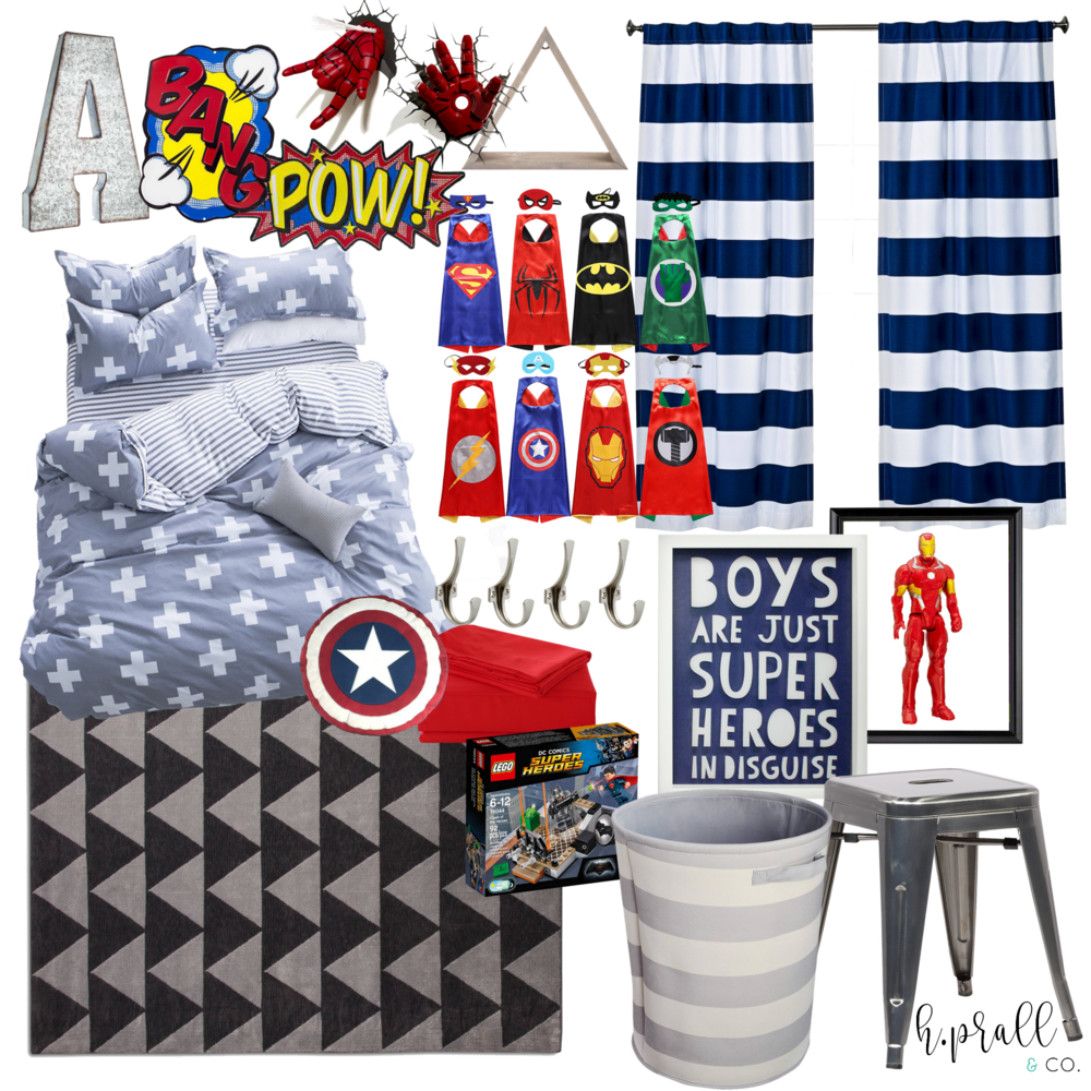 Boys bedroom design for a superhero fan | H.Prall & Co. Interior Decorating | hprallandco.com