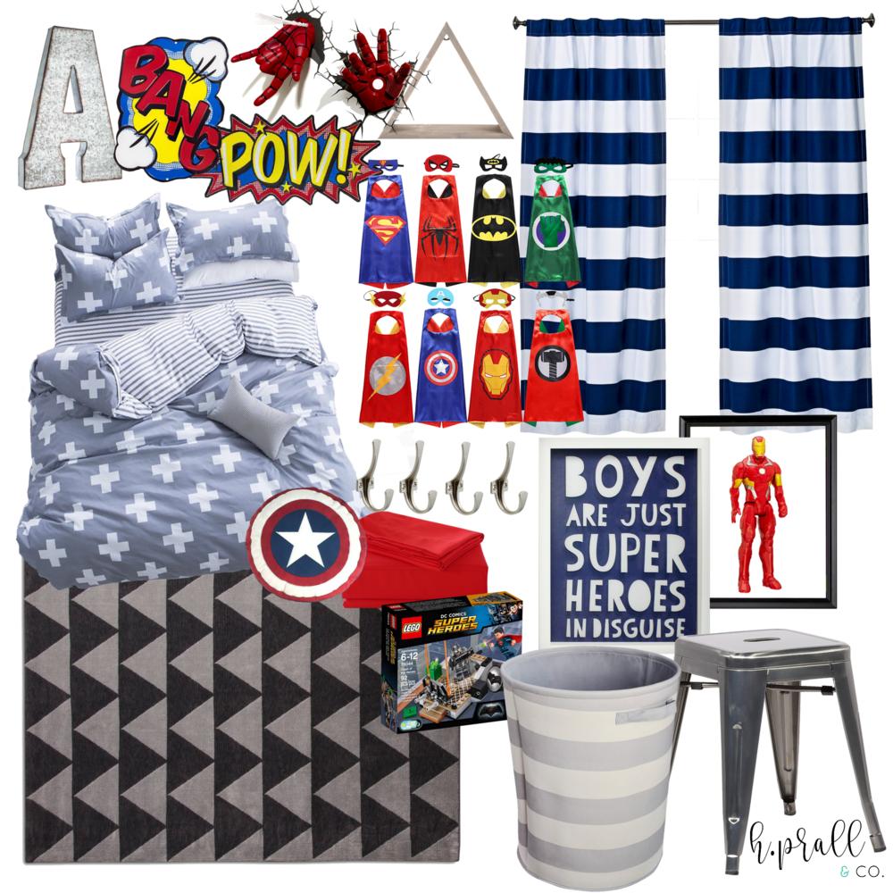 Boys bedroom design for a superhero fan | H.Prall & Co. Interior Decorating | hprallandco.com