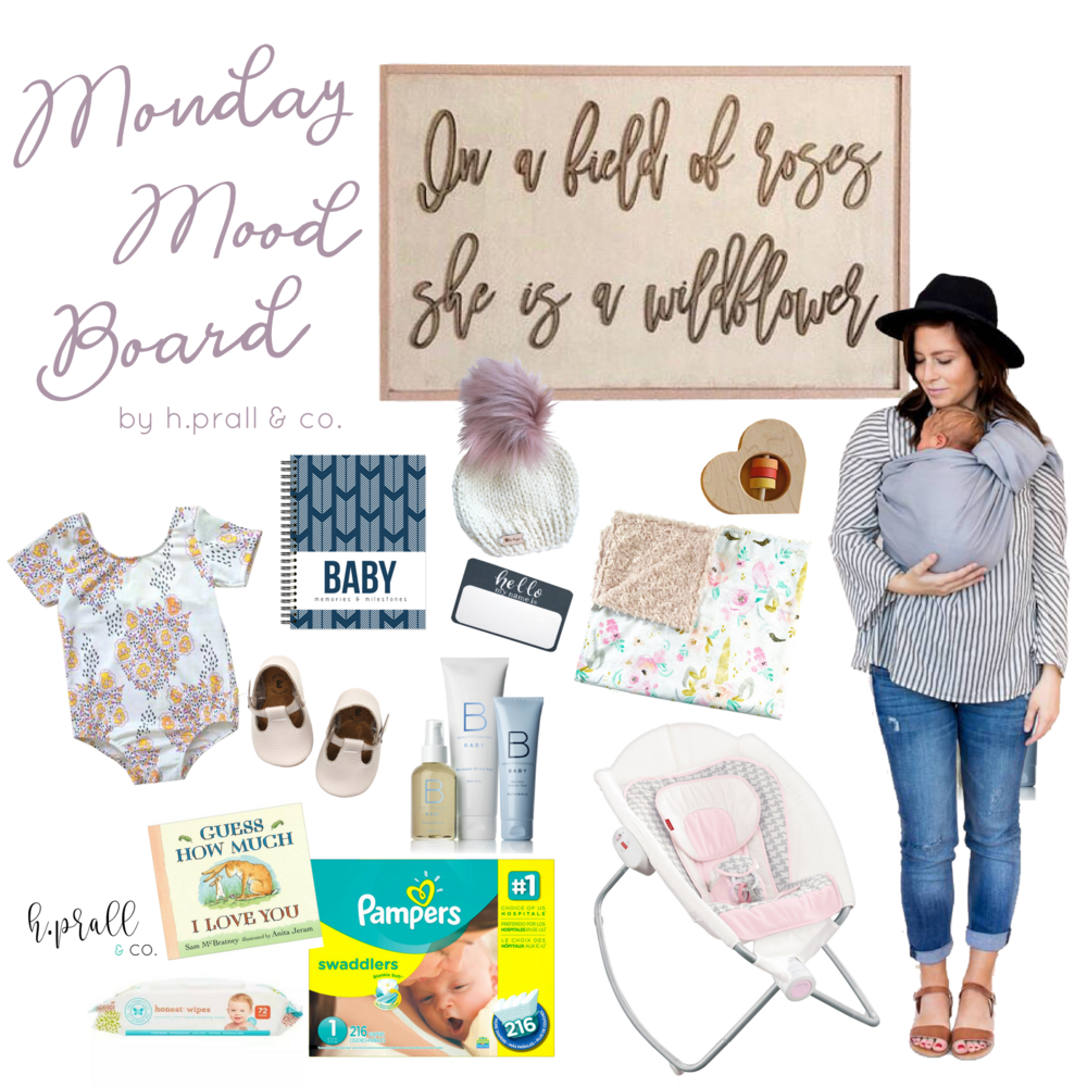 Baby-themed Monday Mood Board from H.Pral & Co. | hprallandco.com