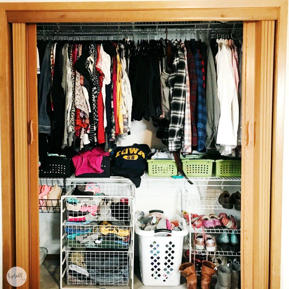 How to Makeover a Bedroom Closet - Step 3 (of 6) at hprallandco.com