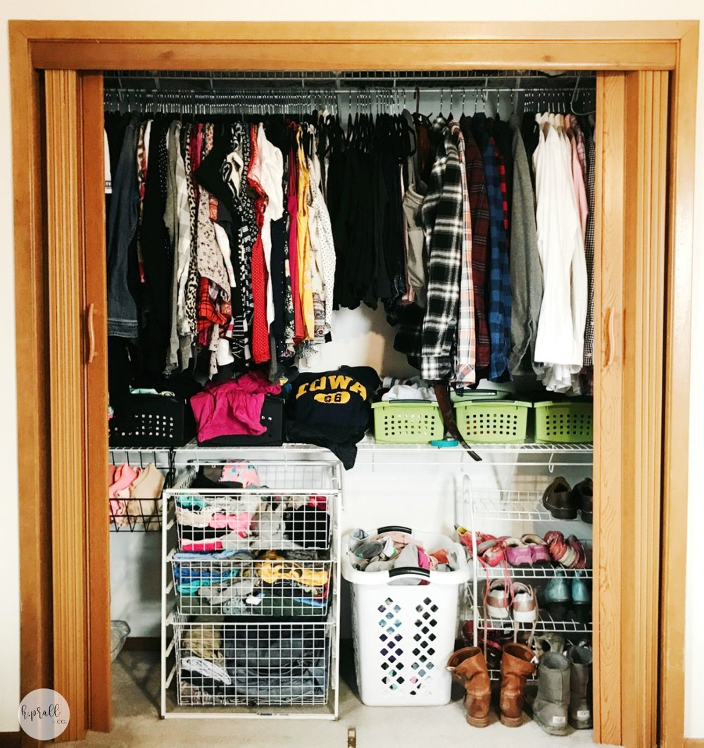"Step 3 of ""How to Makeover a Bedroom Closet"" at H.Prall & Co. | hprallandco.com"