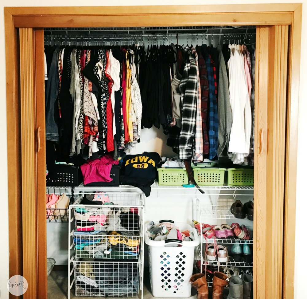 We're giving you easy steps to makeover your bedroom closet at hprallandco.com