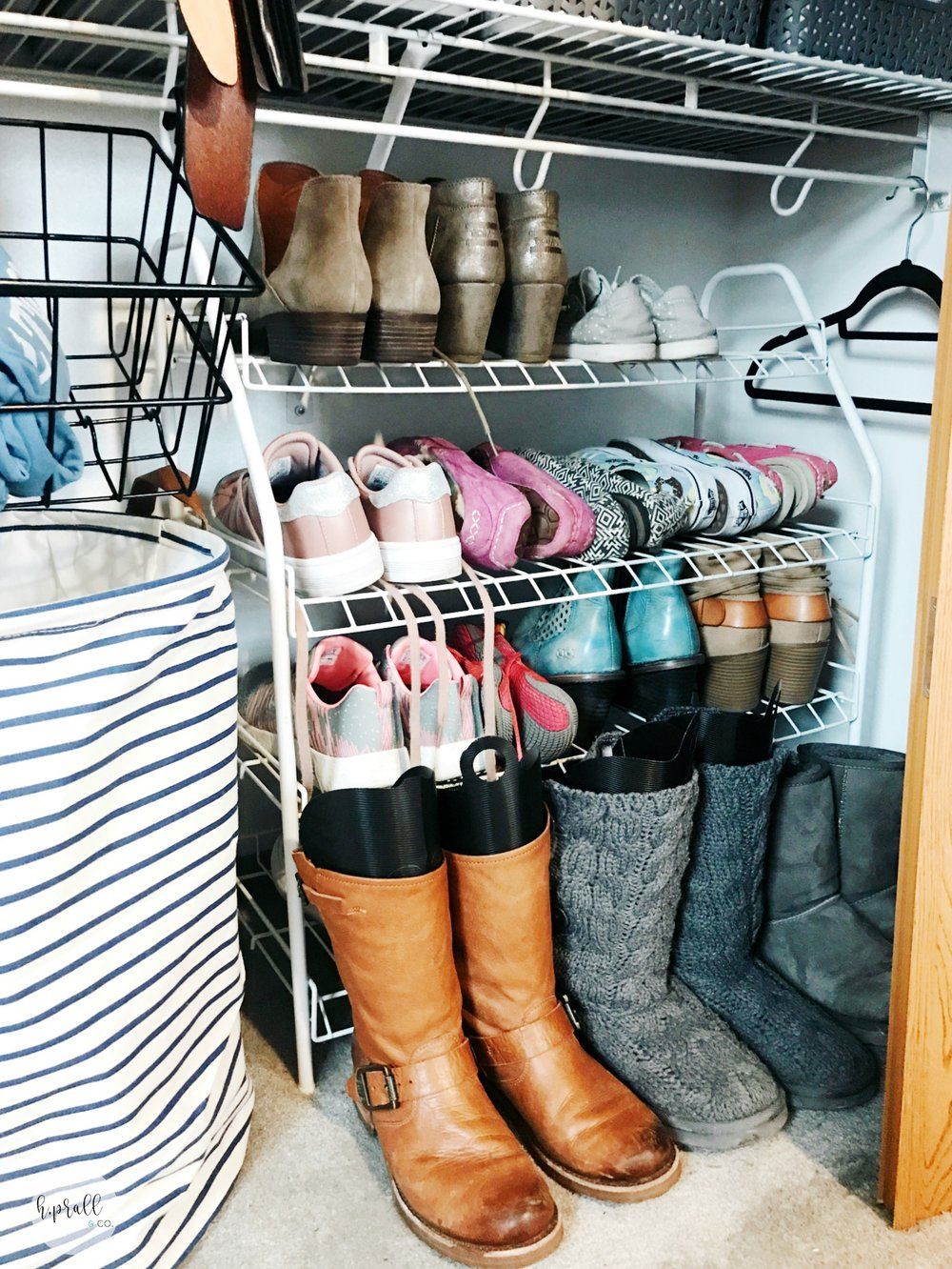 Get our easy tips for organizing your closets at hprallandco.com