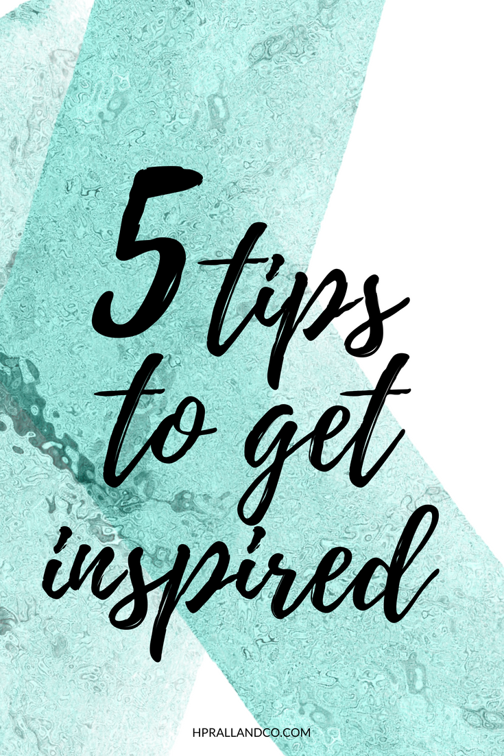 5 Tips to Get Inspired from H.Prall & Co. | hprallandco.com
