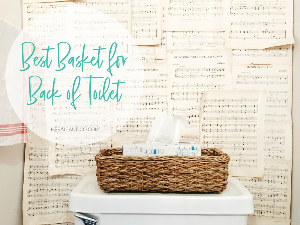 Best Basket for Back of Toilet from hprallandco.com | H.Prall & Co. Interior Decorating