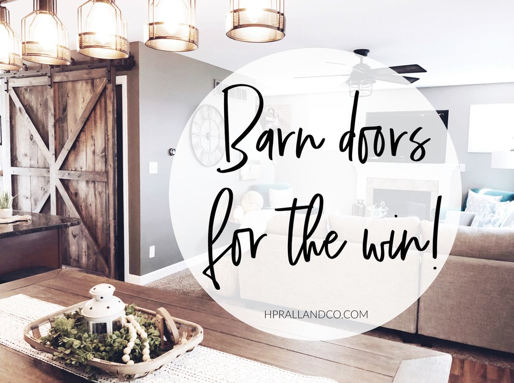 I'm sharing a great before/after of a barn door install at HPrallandCo.com!