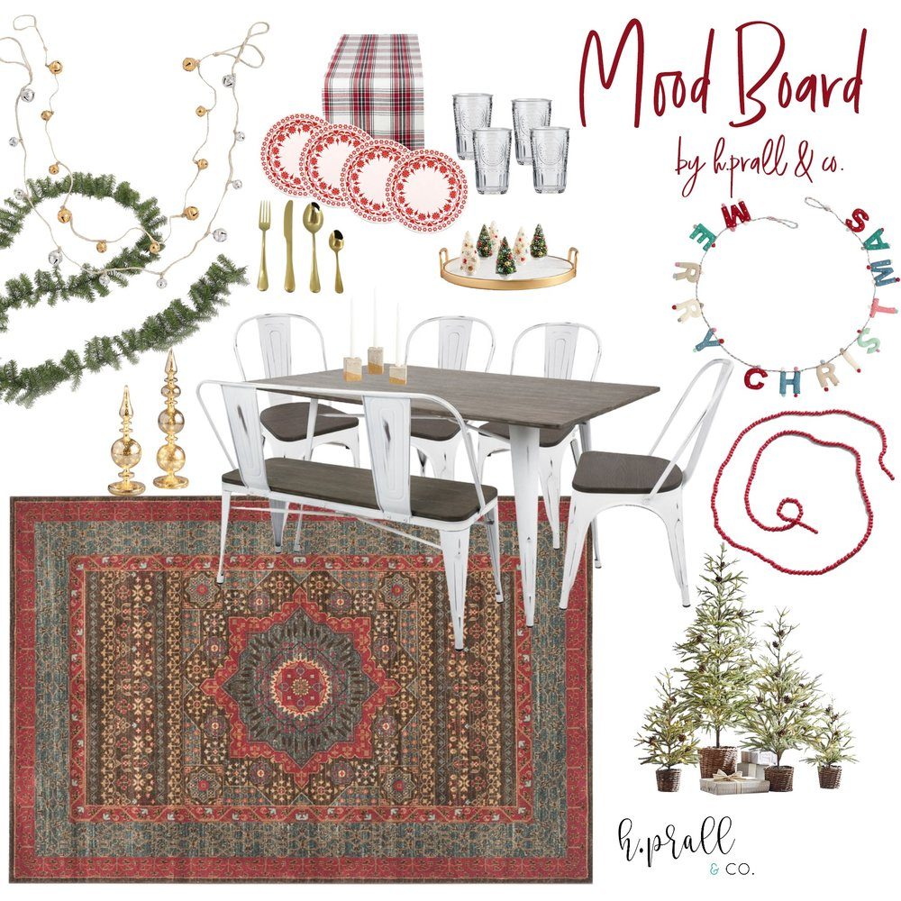 Christmas tablescape mood board design | hprallandco.com