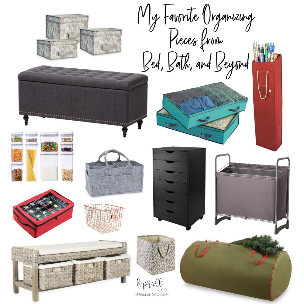 I'm sharing my favorite organizing pieces from Bed, Bath, Beyond over at HPrallandCo.com