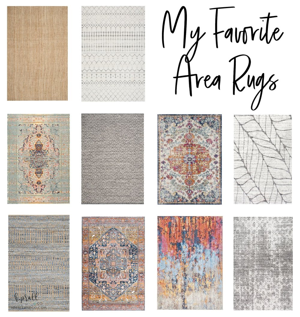 I'm sharing my favorite area rugs at hprallandco.com!