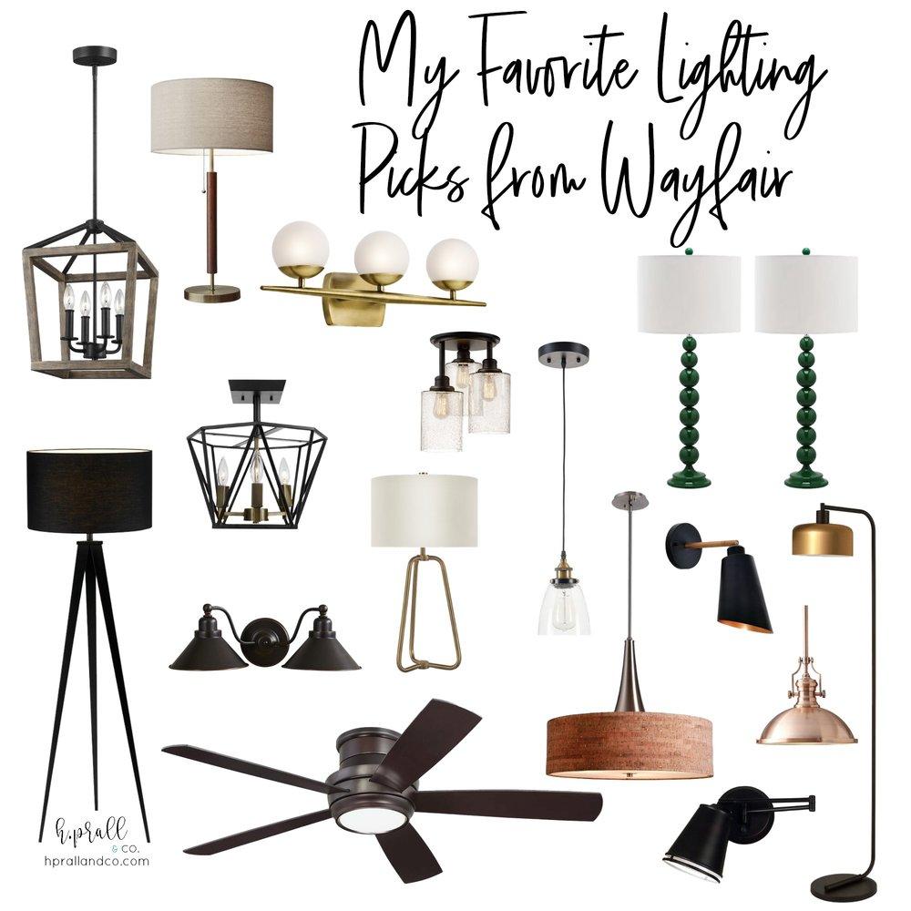 I'm sharing my favorite lighting picks from Wayfair over at hprallandco.com!