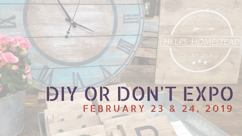 DIY or Don't Expo in Des Moines, IA February 23 & 24 2019