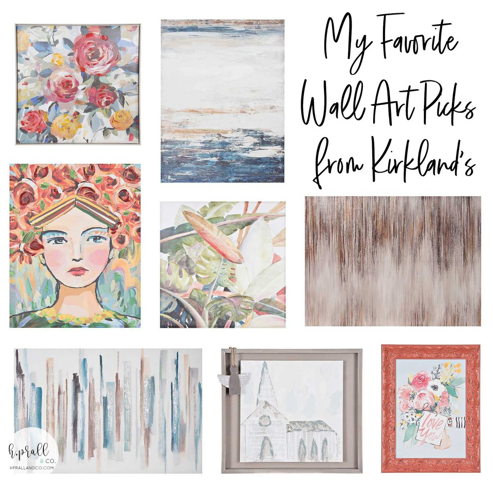 I'm sharing my favorite wall art picks from Kirkland's over at hprallandco.com!