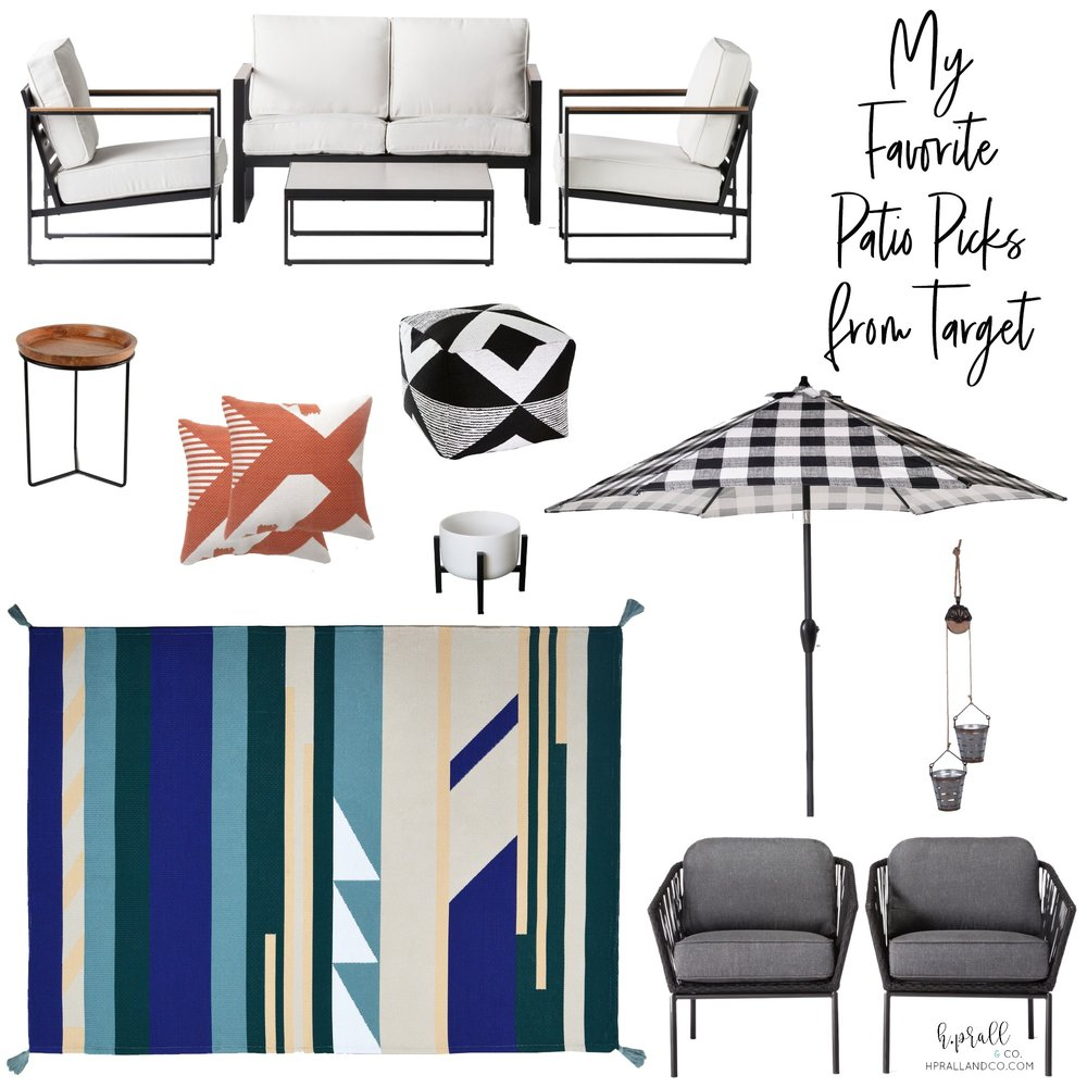 I'm sharing my favorite patio picks from Target over at hprallandco.com! H.Prall & Co. Interior Decorating Des Moines, IA