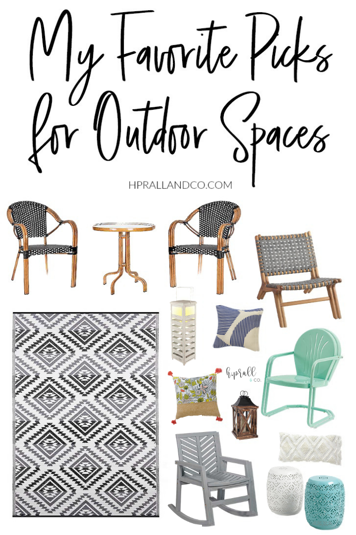 I'm sharing my favorite picks for outdoor spaces over at hprallandco.com! | H.Prall and Co. Interior Decorating