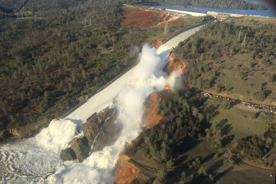 Source:   Oroville Dam -   California Department of Water Resources via Reuters