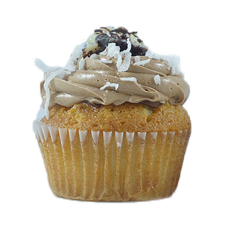 Magic Bar Coconut cake, Chocolate Cream filling, Chocolate Buttercream, Magic bar square.                                               Available in regular and  mini size.   Gluten Free option available daily. Please call the store for daily flavor.