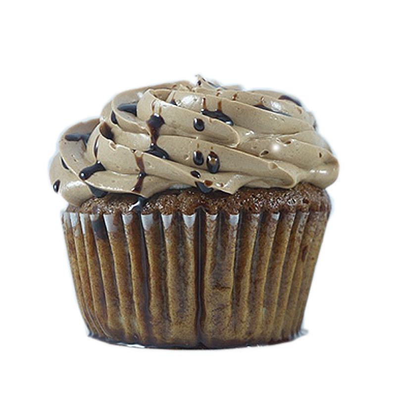 Bouncing Bean Coffee Cake, Whipped Cream Filling, Chocolate Buttercream, Chocolate coffee sauce drizzle.                 Available in regular and  mini size.   Gluten Free option available daily. Please call the store for daily flavors.