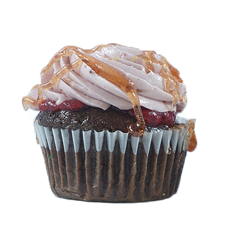 Raspberry Temptation Chocolate Cake, Raspberry Filling, Raspberry Buttercream, Chocolate drizzle .                                             Available in regular and  mini size.   Gluten Free option available daily. Please call the store for daily flavor.