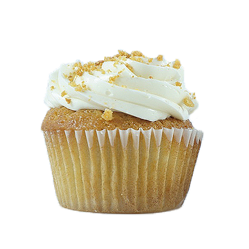 Nuvola Vanilla cake, Vanilla cream filling, Vanilla buttercream, Vanilla crumbs.                                                     Available in regular and  mini size.   Gluten Free option available daily. Please call the store for daily flavor.