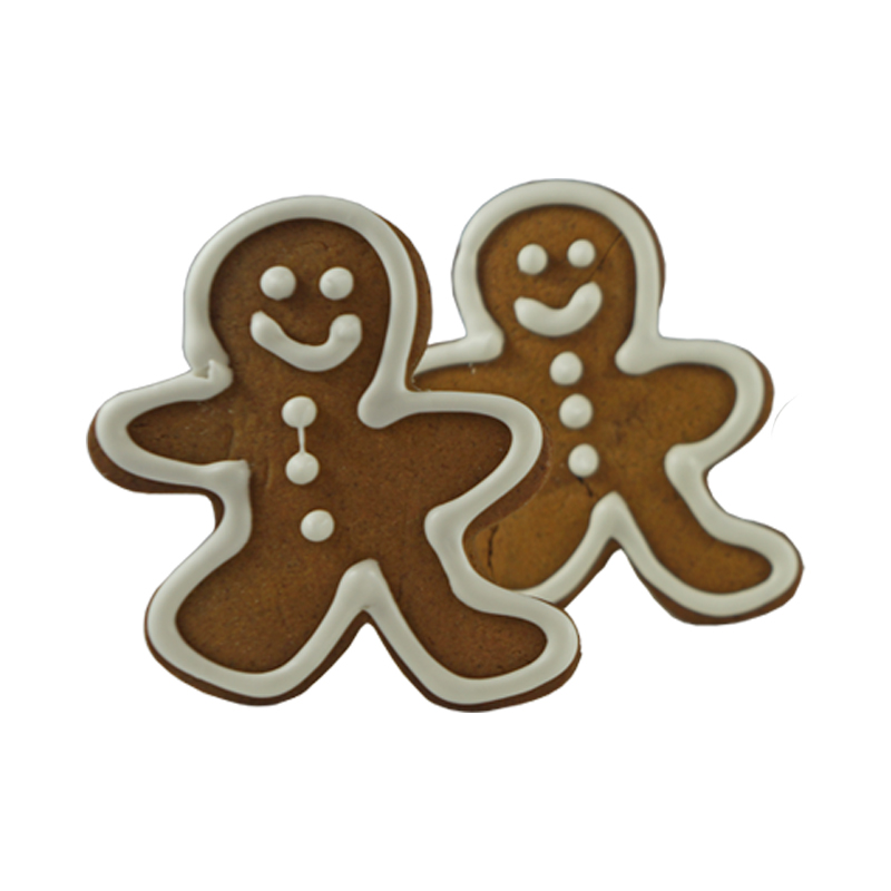 GINGERBREAD MAN   A classic! Our amazing gingerbread cookie dough, decorated with white royal icing                                                 $2.00 each,   GF option available   Gift Package available upon request.