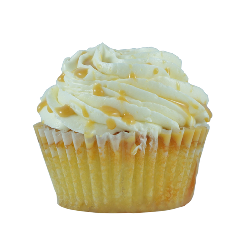Dulce & Gabbana    Vanilla Cake, Vanilla Buttercream, Dulce de Leche Drizzle                                                                                       Available in regular and  mini size.       Gluten Free option available. Please call the store for daily flavor.