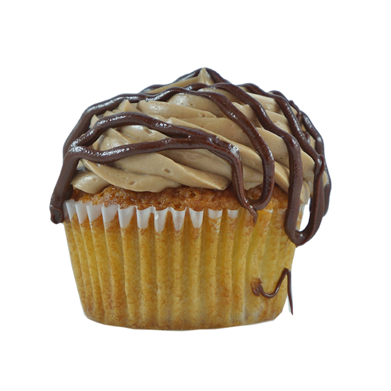 Nutell' You a Secret!   Banana Cupcake, Nutella Buttercream, Nutella Drizzle.                                                                                       Available in regular and  mini size.       Gluten Free option available. Please call the store for daily flavor.
