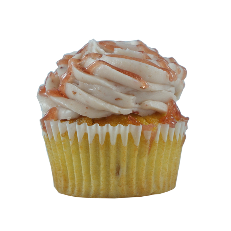 Raspberry Lemonade   Lemon Cupcake, Raspberry Buttercream, Raspberry Sauce.                                                                                           Available in regular and  mini size.       Gluten Free option available. Please call the store for daily flavor.