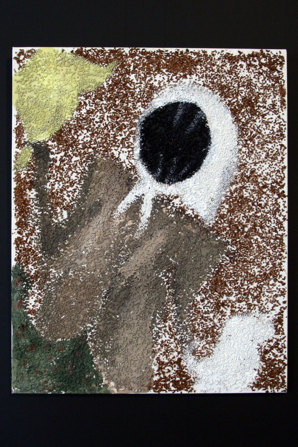 Buckwheat Chuchela, 2009    30 x 24 inches     Buckwheat and acrylic on canvas