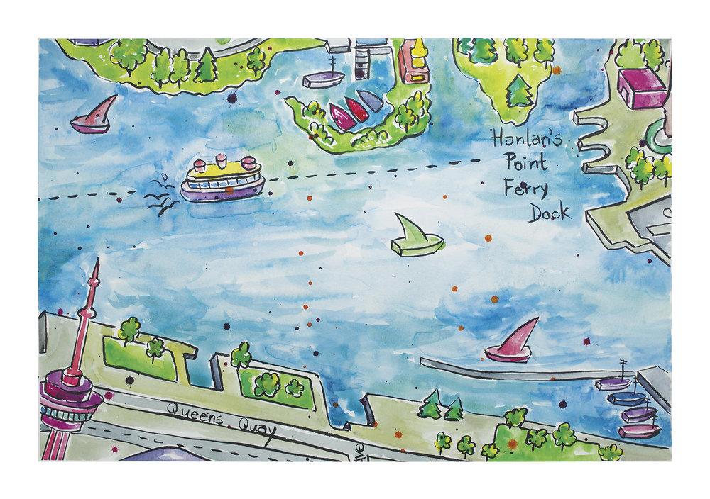 Toronto Island and Queens Quay Map