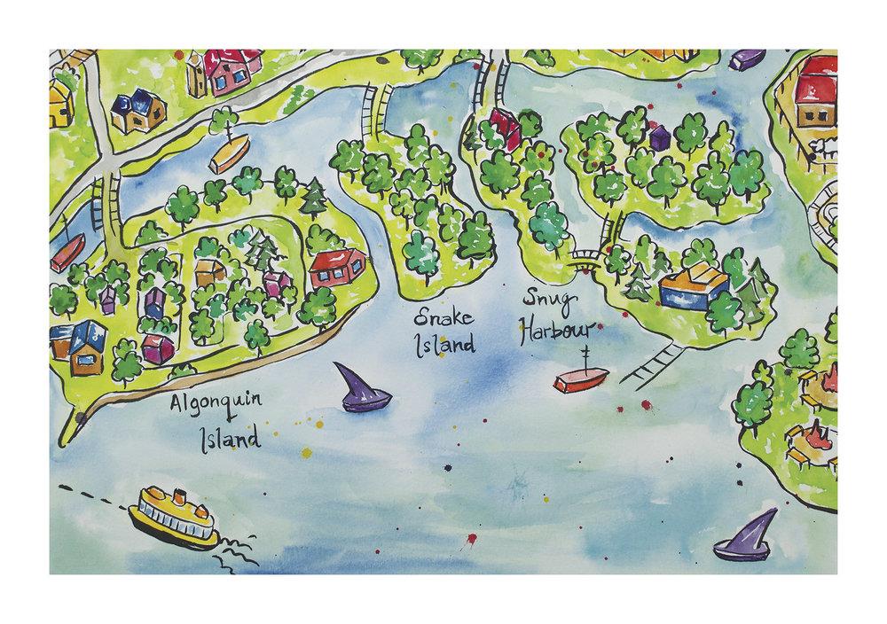 Toronto Island Map - Snug Harbour