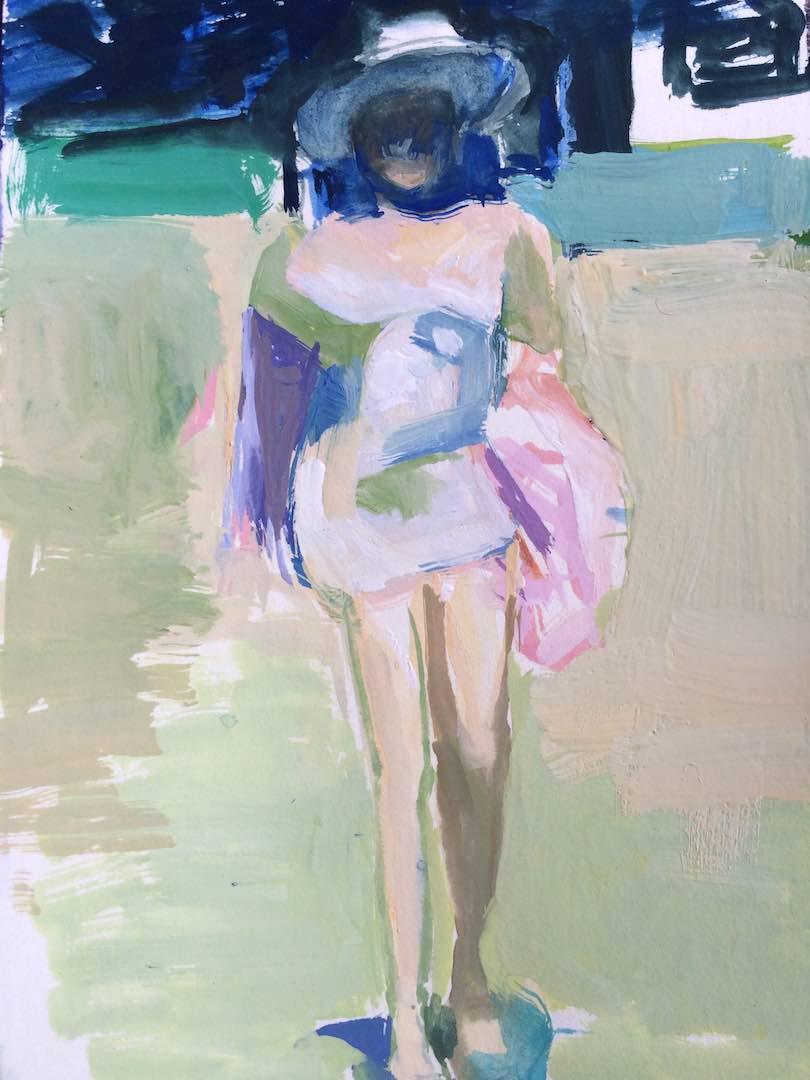 Tia Nade Walking to the Beach, 2015