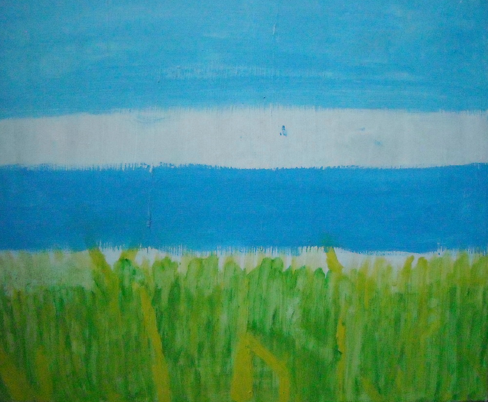 REGARDER L'HERBE POUSSER, ACRYLIC ON CANVAS, 60 X 50CM