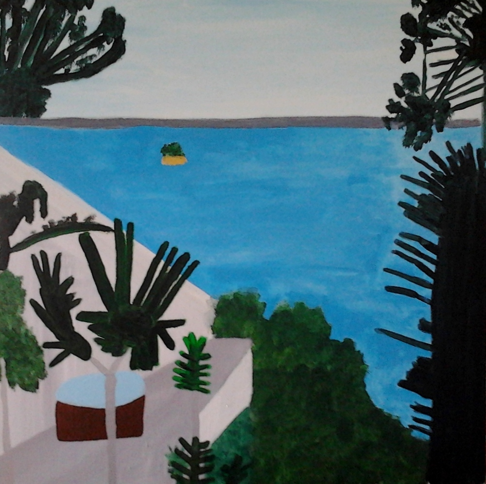 KAWAU ISLAND, ACRYLIC ON CANVAS, 76 X 76CM
