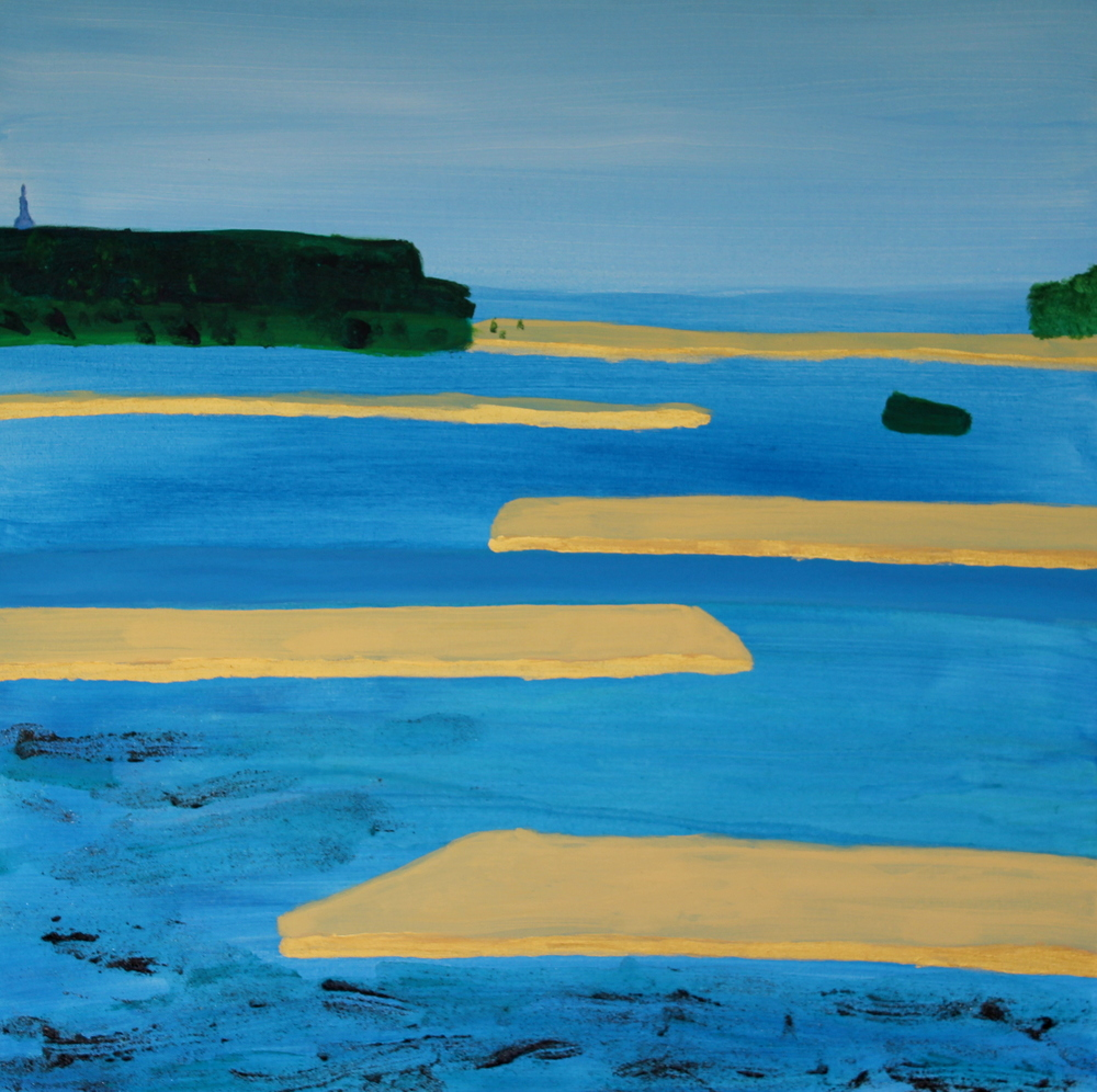 TAMAKI ESTUARY, ACRYLIC ON CANVAS, 76 X 76CM