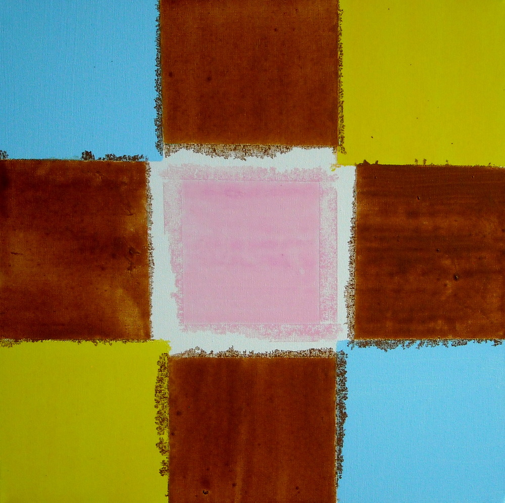 A SQUARE GAME 1, ACRYLIC ON CANVAS, 51 X 51CM